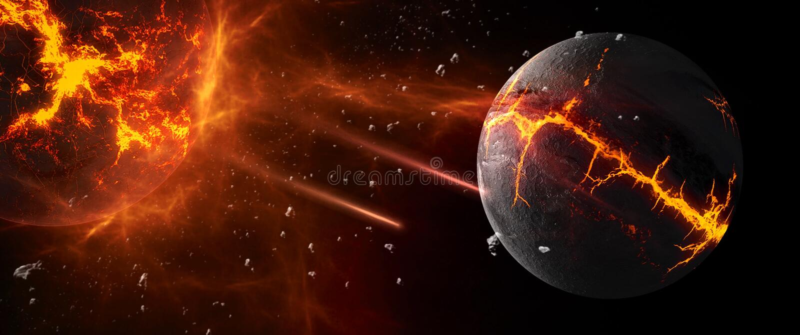 Планеты и галактики, обои научной фантастики Красота глубокого космоса иллюстрация вектора