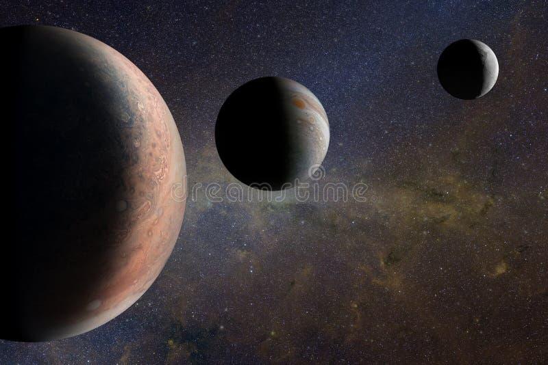 Планеты чужеземца в космическом пространстве Элементы этого изображения поставленные NASA бесплатная иллюстрация