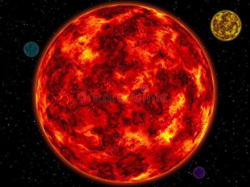 планеты иллюстрация вектора