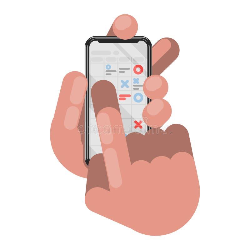 Планирование и организация на телефоне бесплатная иллюстрация