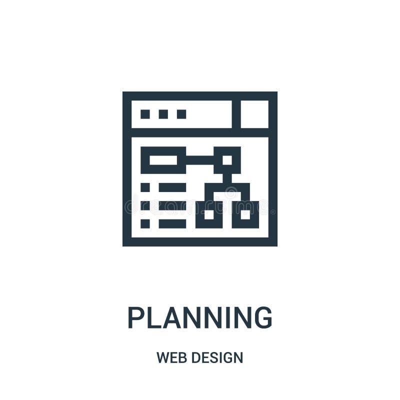 планируя вектор значка от собрания веб-дизайна Тонкая линия иллюстрация вектора значка плана планирования бесплатная иллюстрация