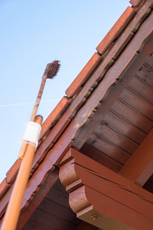 Планки гребня крыши картины с коричневым пятном стоковая фотография rf