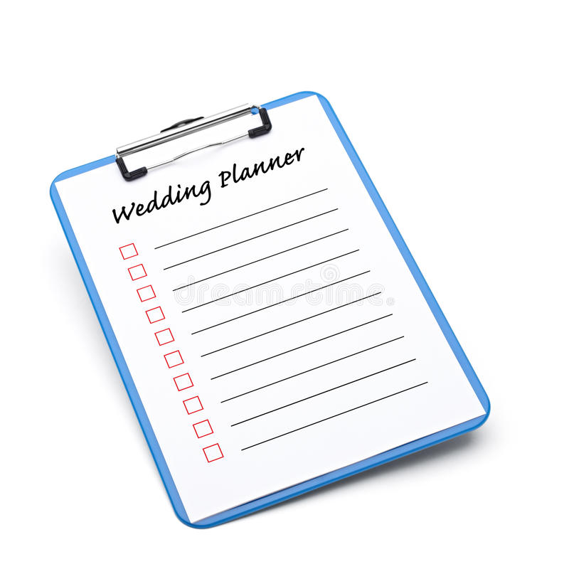 Плановик венчания иллюстрация вектора