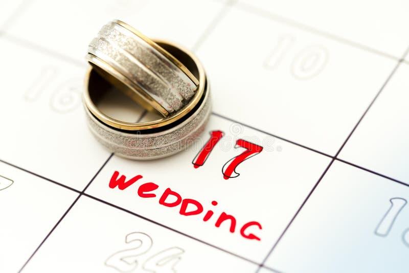 Плановик свадьбы стоковое изображение rf