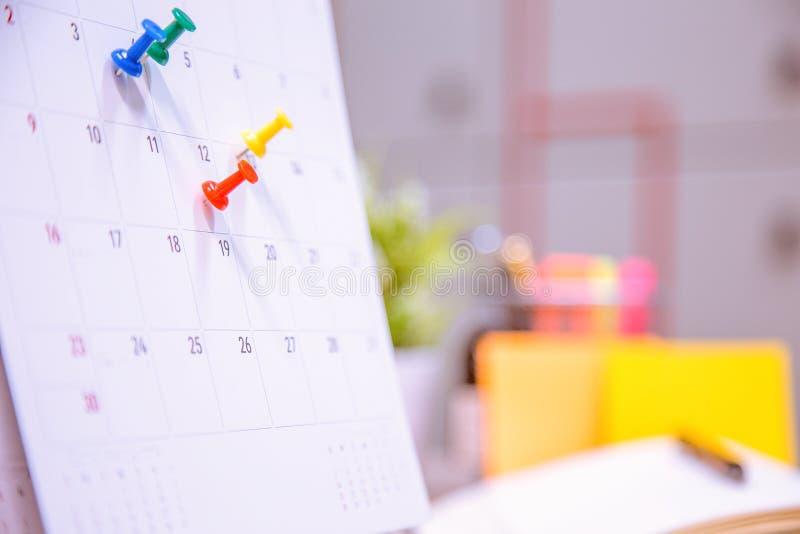Плановик события календаря занятый стоковые фото
