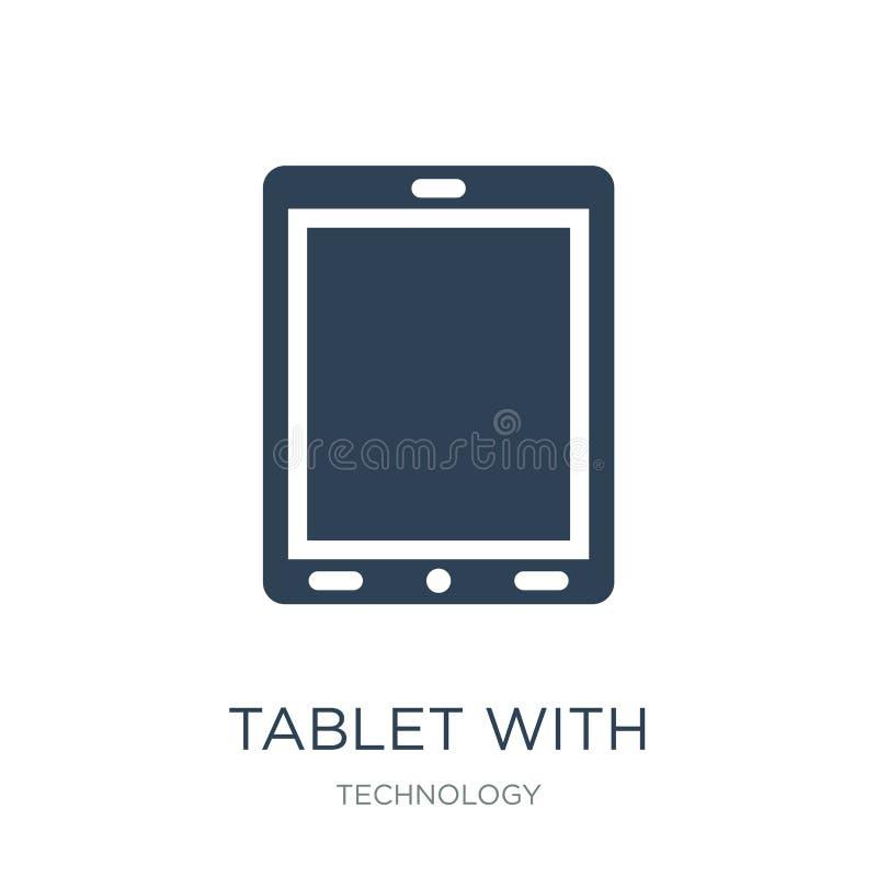 планшет со значком пустого экрана в ультрамодном стиле дизайна планшет со значком пустого экрана изолированным на белой предпосыл иллюстрация вектора