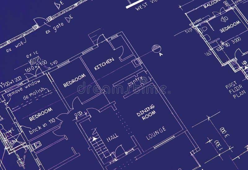 планы здания светокопии стоковая фотография rf