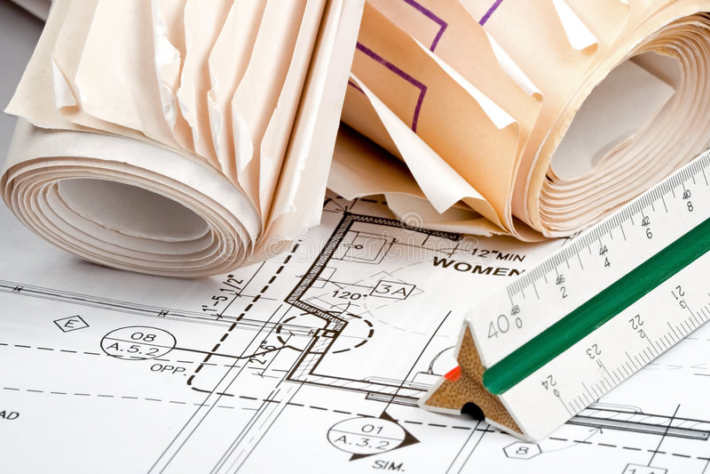 планы конструкции стоковое изображение rf