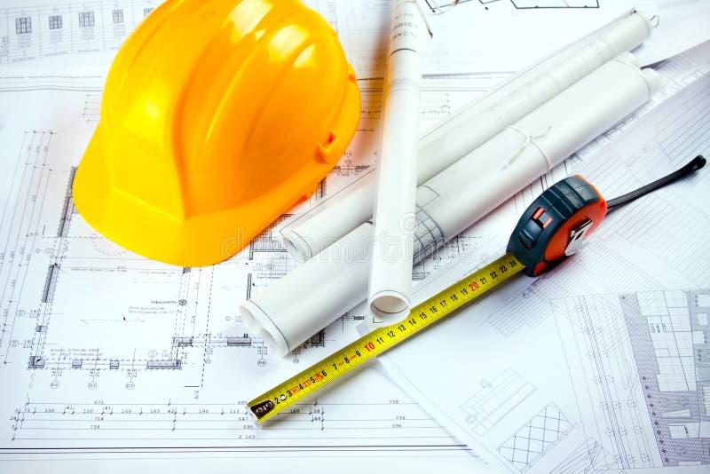 планы строительства стоковая фотография rf