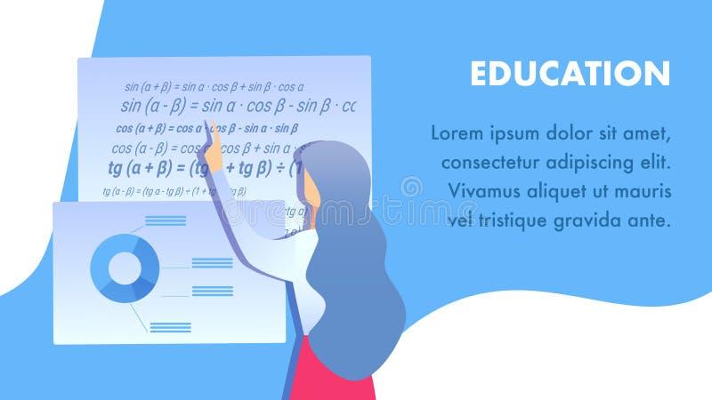 План вектора знамени образовательного учреждения плоский иллюстрация вектора