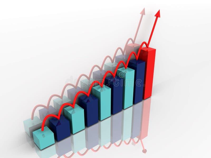 план-график диаграммы иллюстрация вектора