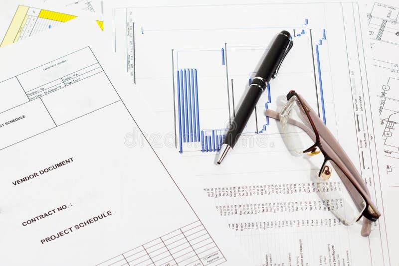 план-график проекта стоковая фотография rf