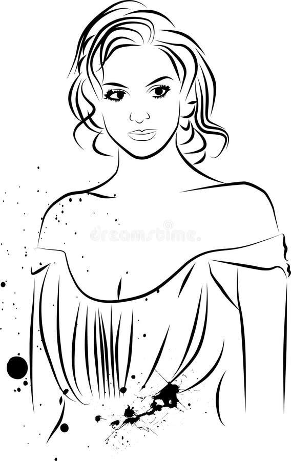 план девушки иллюстрация вектора