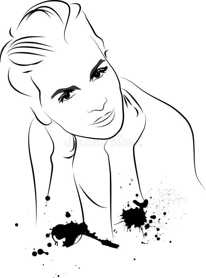 план девушки иллюстрация штока