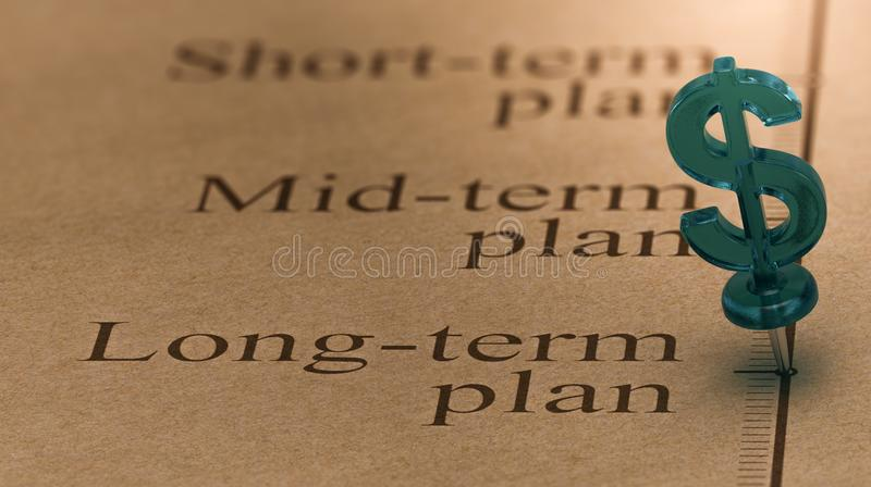 План долгосрочных инвестиций бесплатная иллюстрация