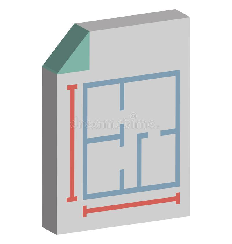 План дома изолировал равновеликий значок вектора который может легко доработать или отредактировать иллюстрация вектора
