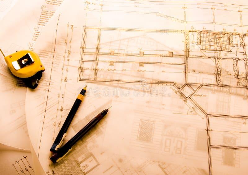 план дома светокопий стоковое изображение rf