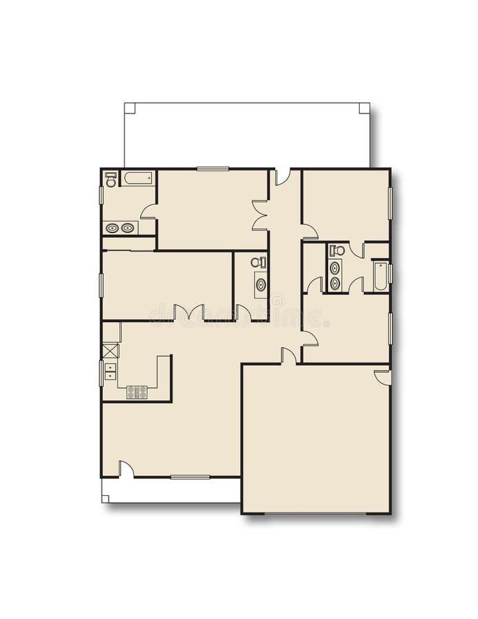 план дома иллюстрация штока