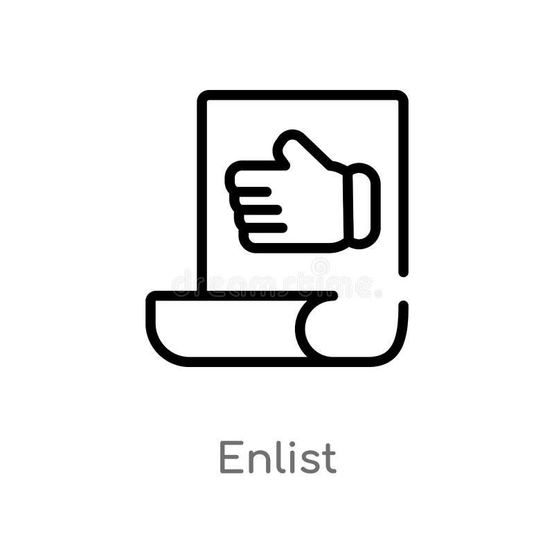 план завербовывает значок вектора изолированная черная простая линия иллюстрация элемента от разносторонней концепции Editable хо иллюстрация штока