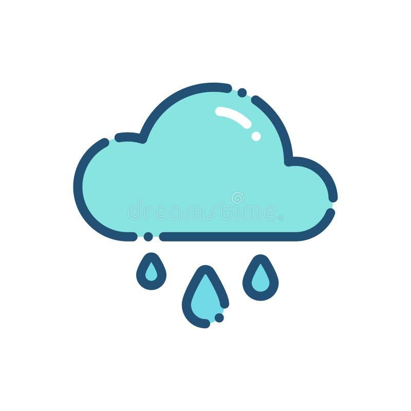 План значка дождя ливня погоды бесплатная иллюстрация
