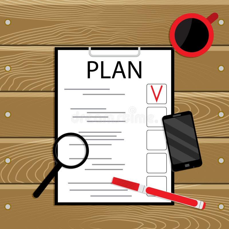 План и организация иллюстрация вектора