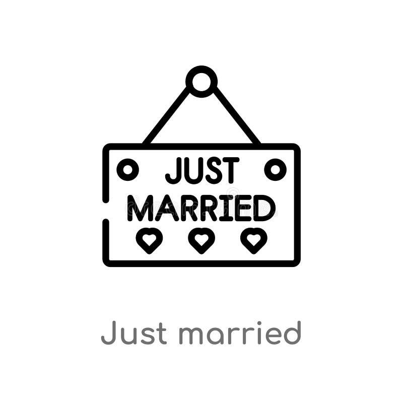 план как раз поженился значок вектора изолированная черная простая линия иллюстрация элемента от концепции дня рождения и свадьбы иллюстрация штока