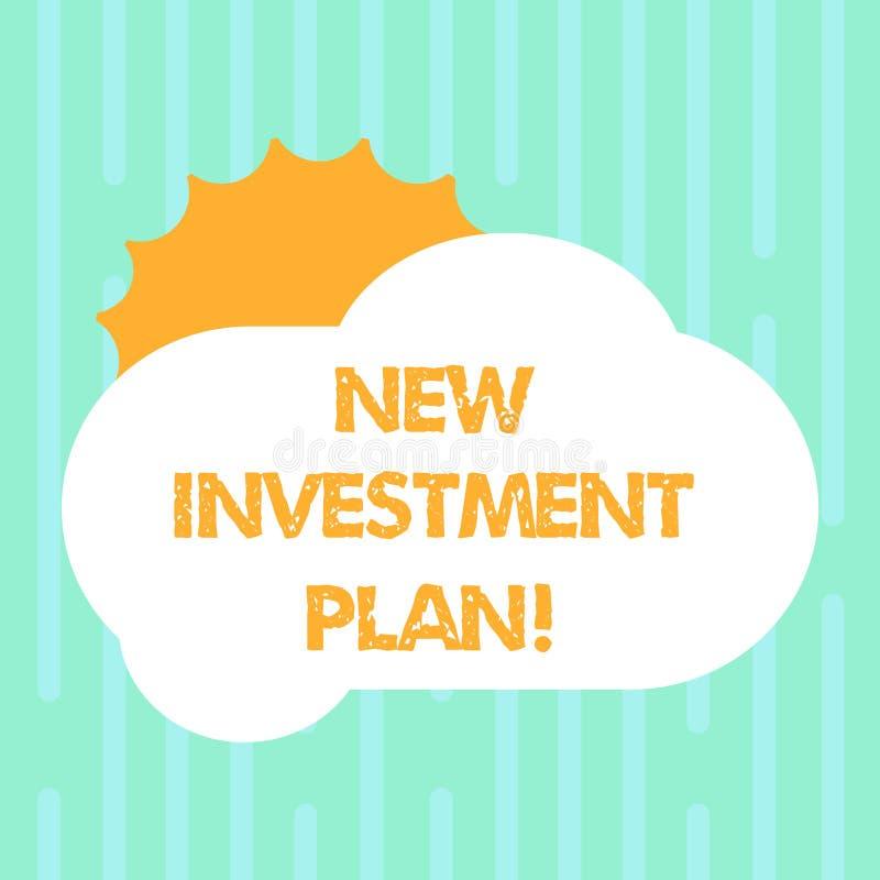 План капиталовложений текста сочинительства слова новый Концепция дела для инвесторов делает регулярные равные оплаты в инвесторс иллюстрация вектора