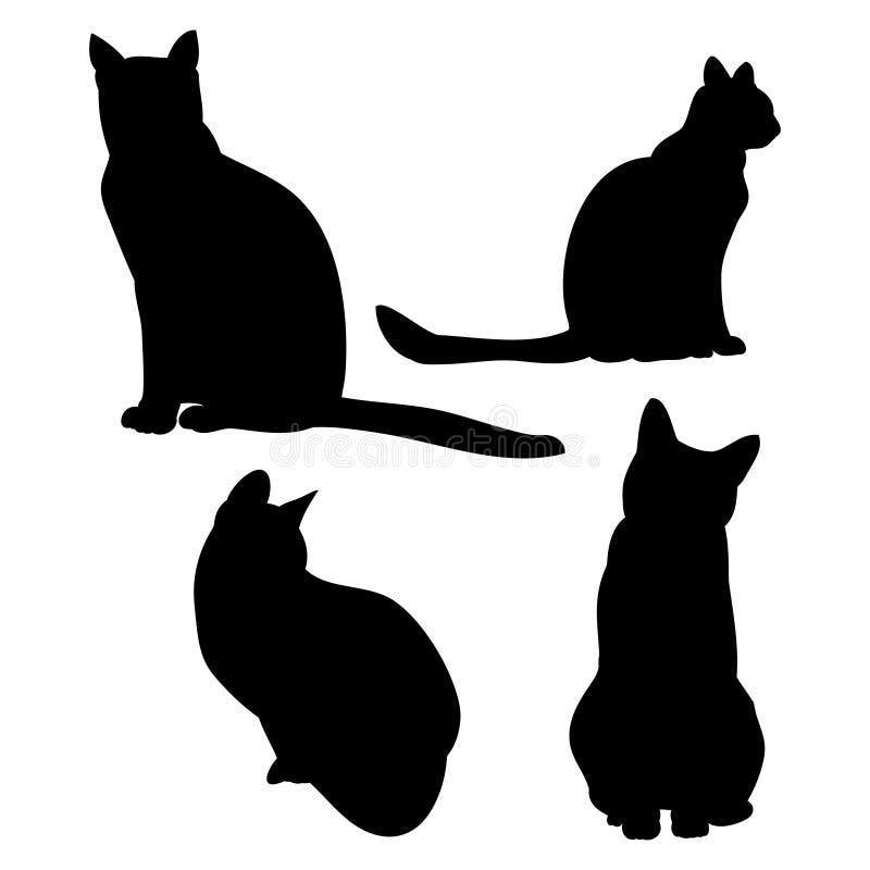 План кота на белой предпосылке бесплатная иллюстрация