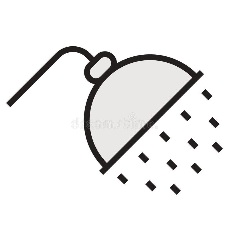 План ливня и заполненный изолированный значок вектора который можно легко редактировать или дорабатывать иллюстрация вектора