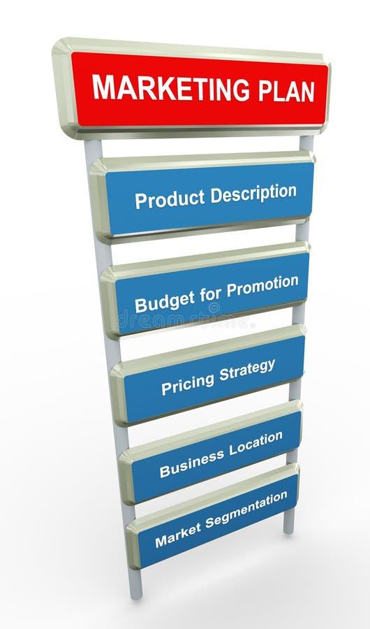 план маркетинга иллюстрация штока