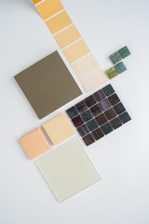План образцов материалов, выбор материалов, выбор стоковые изображения