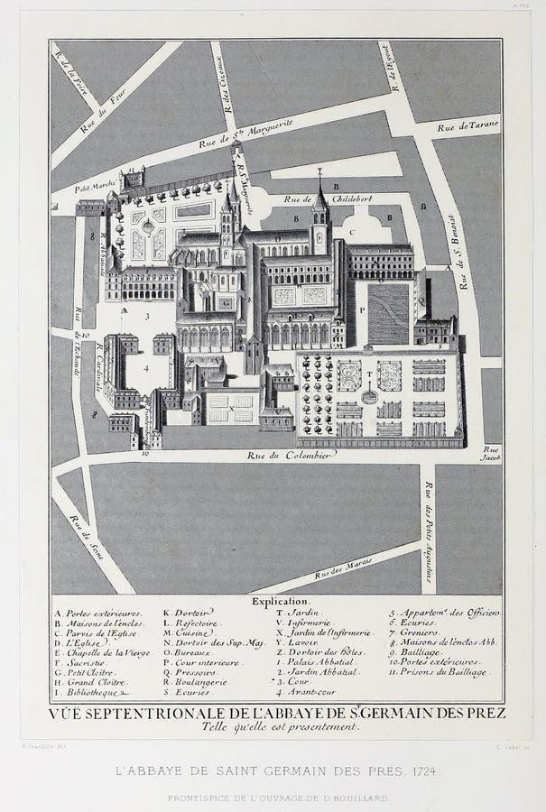 План Парижа Ретро изображение иллюстрация штока
