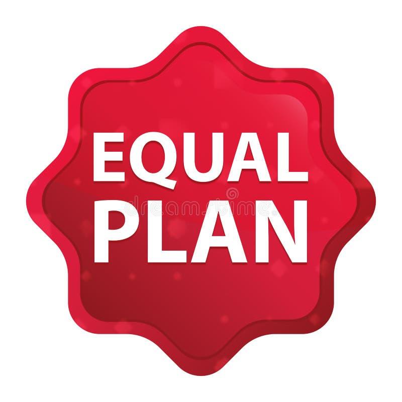 План равного туманный поднял красная кнопка стикера starburst иллюстрация штока