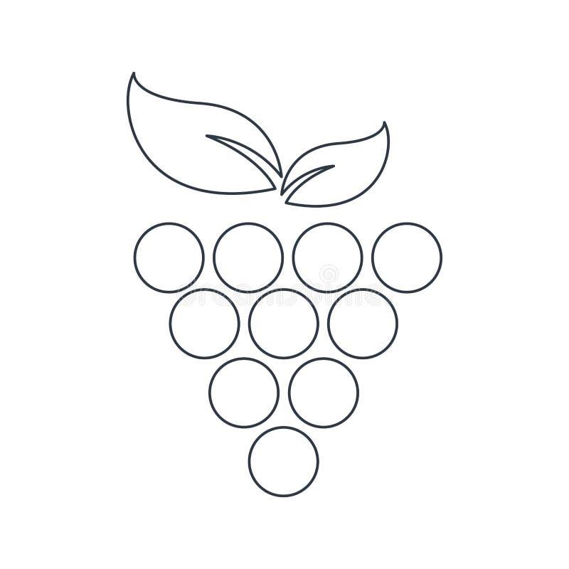 План символа еды плода виноградины иллюстрация штока