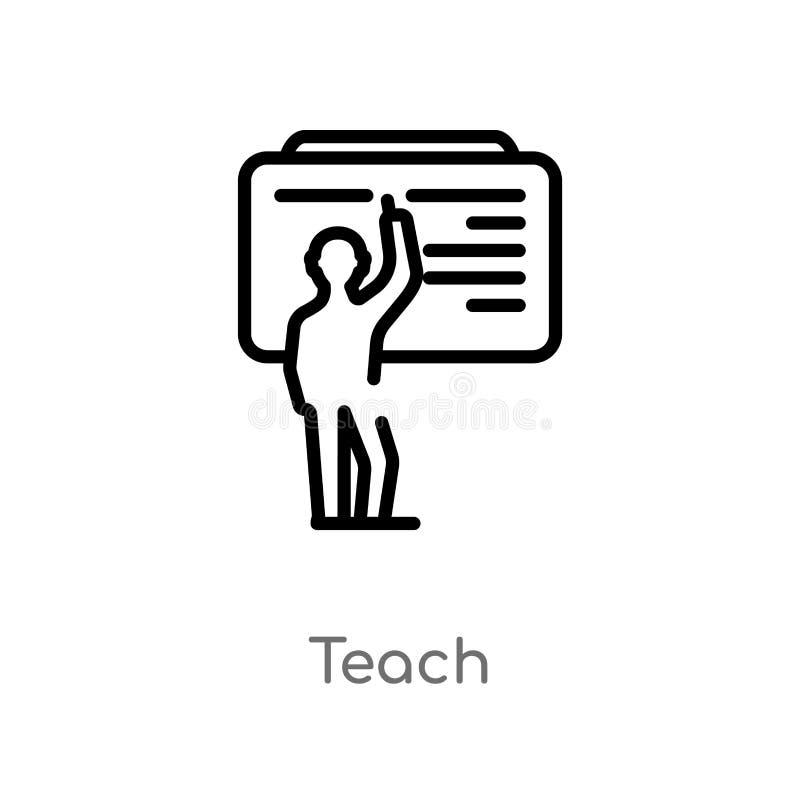 план учит значку вектора изолированная черная простая линия иллюстрация элемента от концепции образования editable ход вектора уч иллюстрация штока