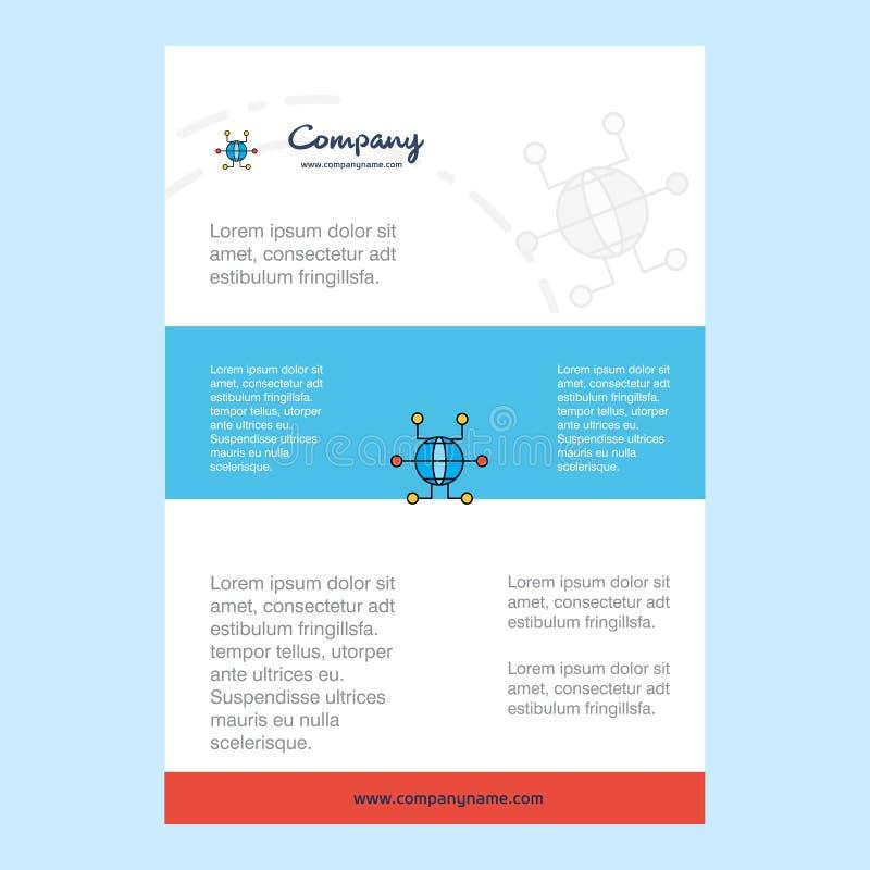 План шаблона для направления компании глобальной вычислительной сети, годового отчета, представлений, листовки, предпосылки векто бесплатная иллюстрация