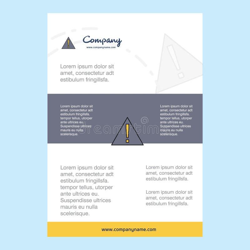 План шаблона для направления компании ошибки, годового отчета, представлений, листовки, предпосылки вектора брошюры иллюстрация вектора
