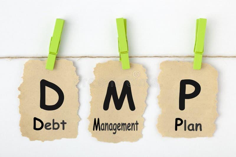 План DMP контроля и регулирование долговых отношений стоковая фотография rf
