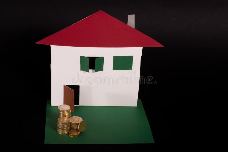 План Finacial для недвижимости стоковые изображения
