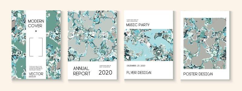 Пластиковая заливка, макет векторной обложки векторной текстуры Журнал Trendy Magazine, шаблон музыкального плаката Экологический иллюстрация штока