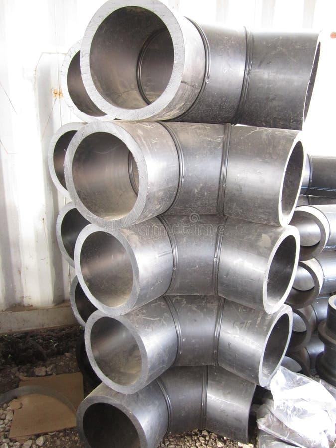 Пластиковые углы труб большого диаметра стоковое изображение rf