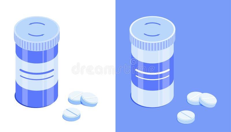 Пластиковый опарник таблетки бесплатная иллюстрация