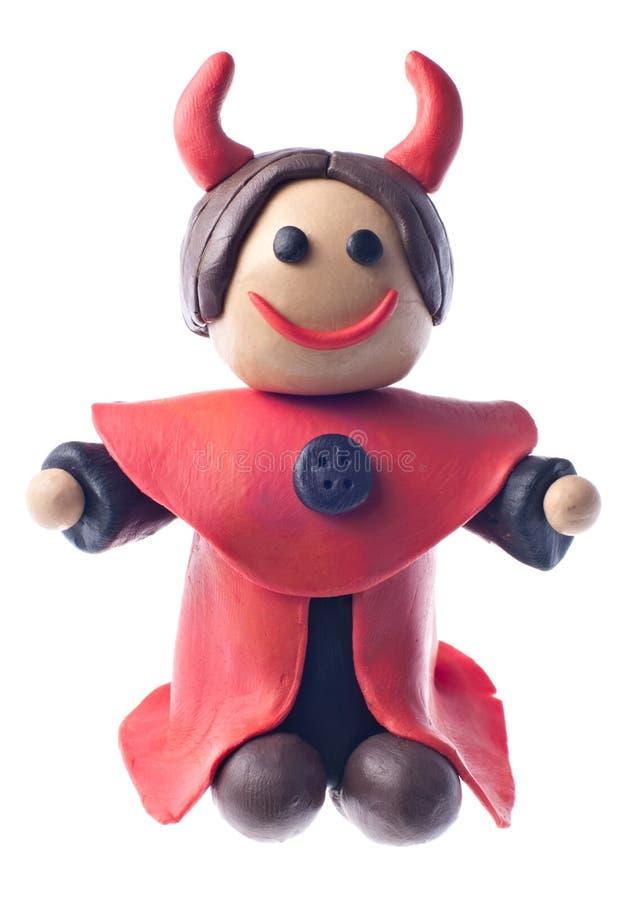 пластилин дьявола смешной стоковое изображение