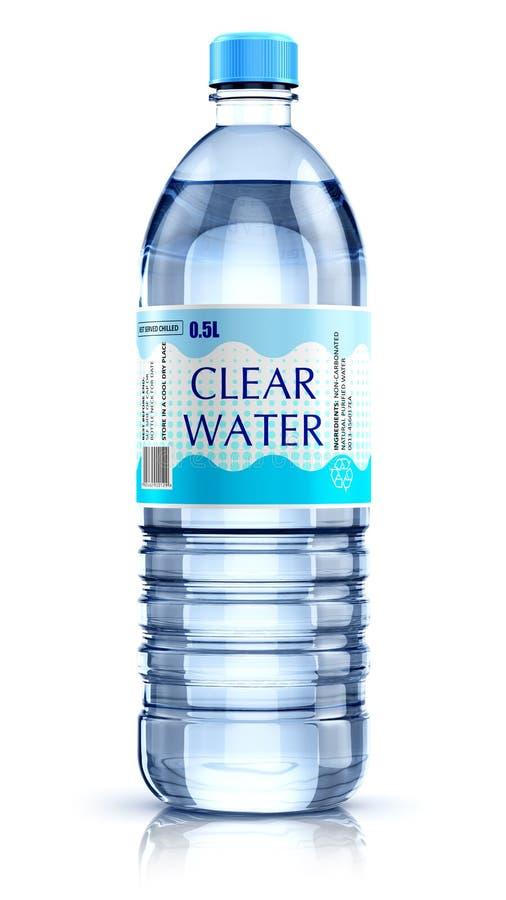 Пластичная бутылка с водой питья Иллюстрация штока ...