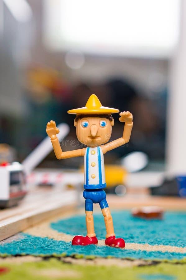 Пластичная диаграмма игрушки Pinocchio стоковые фото