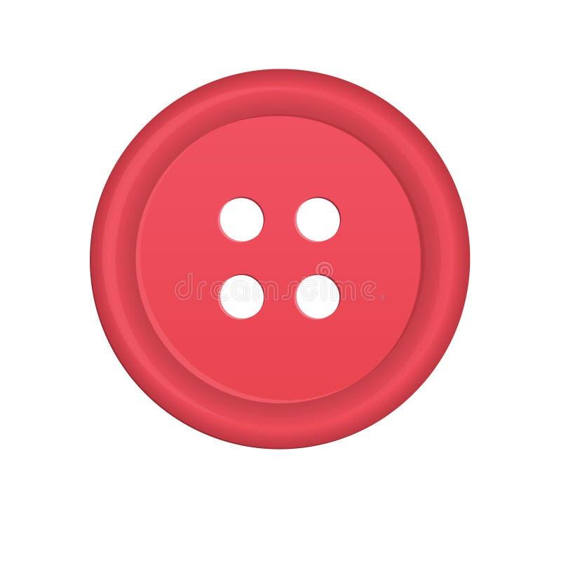 Пластичная кнопка ткани иллюстрация вектора