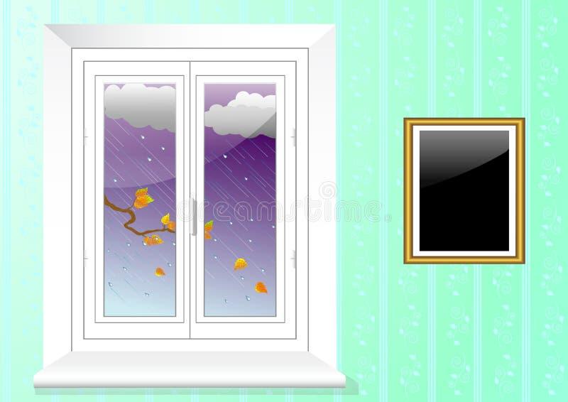 пластичное окно вектора 10eps иллюстрация штока