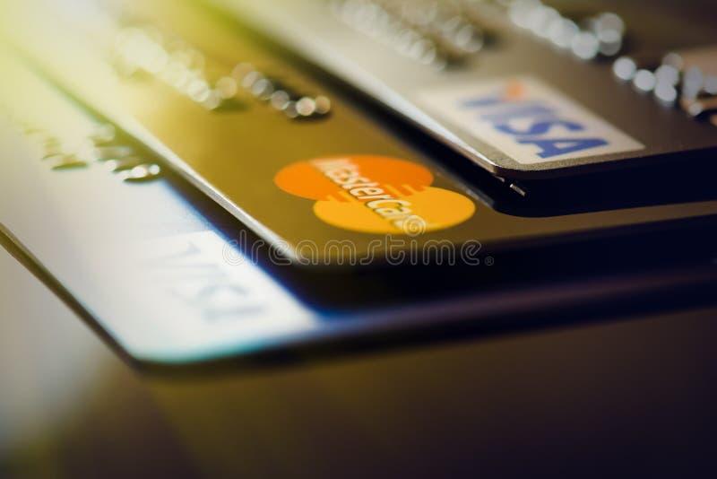 Пластичные карточки стоковое фото rf