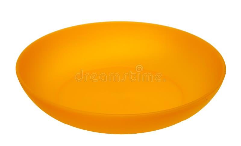 пластичный желтый цвет плиты стоковые изображения rf