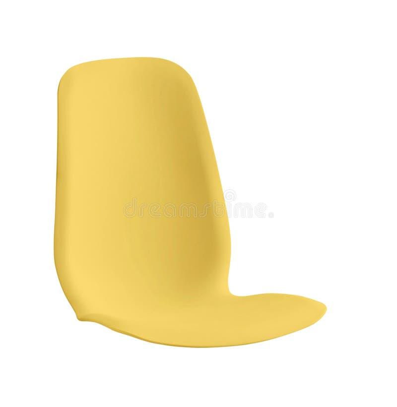 Пластичный изолированный стул стоковая фотография